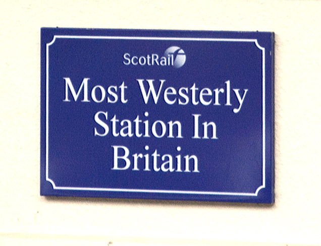 most westerly station in Britain